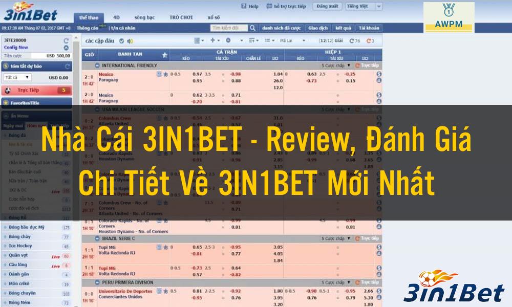 Review, Đánh Giá Chi Tiết Về 3IN1BET Mới Nhất