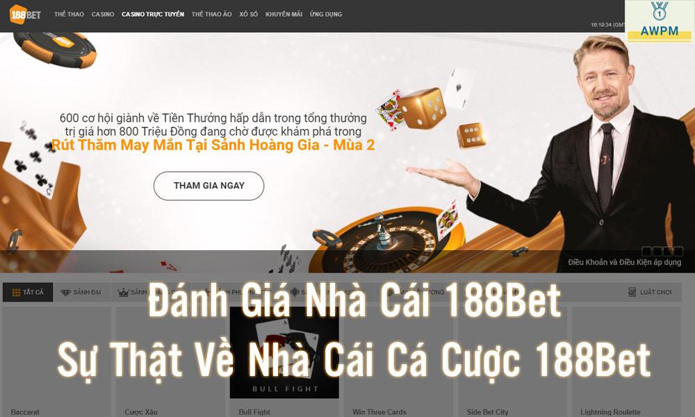 Link đăng nhập nhà cái 188Bet